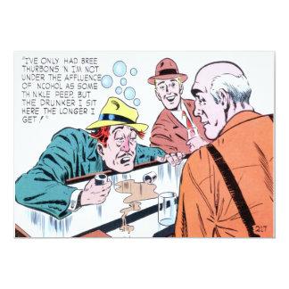 The Drunker I Sit Retro Bar 5x7 Paper Invitation Card