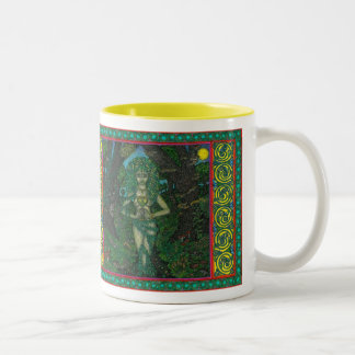 The Dryads Challace, The Trees are my Temple Two-Tone Coffee Mug