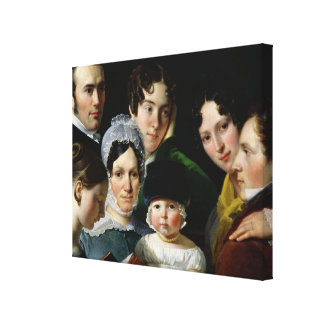 The Dubufe Family in 1820 Gallery Wrap Canvas
