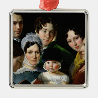 The Dubufe Family in 1820 Metal Ornament