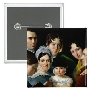 The Dubufe Family in 1820 Pinback Button