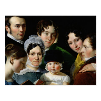 The Dubufe Family in 1820 Postcard