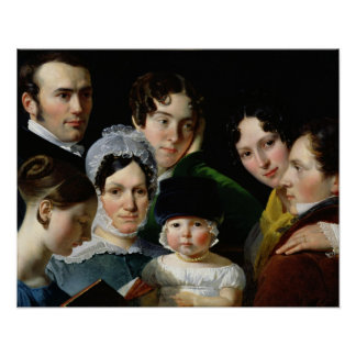 The Dubufe Family in 1820 Poster