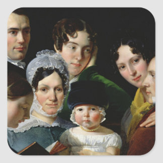 The Dubufe Family in 1820 Square Stickers