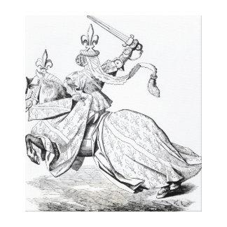 The Duc de Bourbon armed for the Tournament Canvas Print