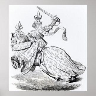 The Duc de Bourbon armed for the Tournament Poster