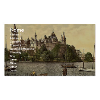 The ducal castle, east side, Schwerin, Mecklenburg Double-Sided Standard Business Cards (Pack Of 100)
