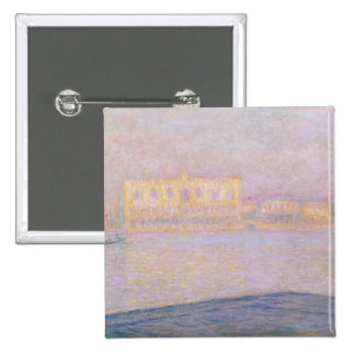 The Ducal Palace from San Giorgio, 1908 2 Inch Square Button