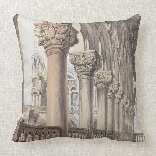 The Ducal Palace, Renaissance Capitals of the Logg Throw Pillows