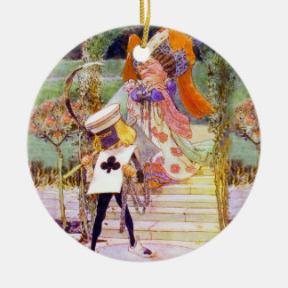 The Duchess and the Executioner in Wonderland Ceramic Ornament