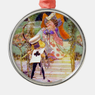 The Duchess and the Executioner in Wonderland Metal Ornament