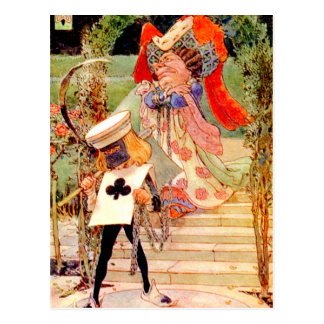 The Duchess and the Executioner in Wonderland Postcard