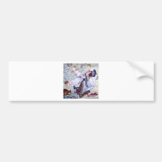 The Duchess and the Pig Baby in Wonderland Car Bumper Sticker