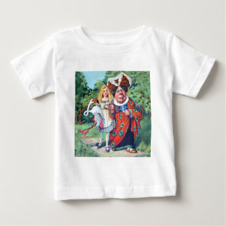 The Duchess Gives Alice Advice on Flamingo Croquet Baby T-Shirt