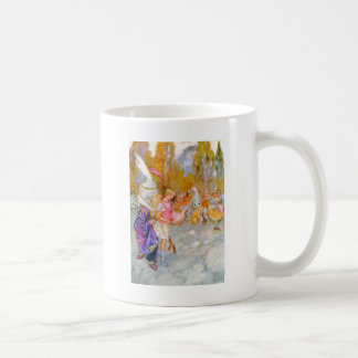 THE DUCHESS GIVES ALICE TIPS IN FLAMINGO CROQUET COFFEE MUG