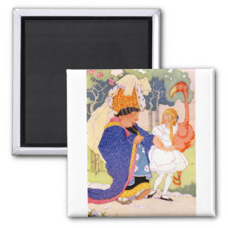 The Duchess Gives Alice TIps on Flamingo Croquet Refrigerator Magnet