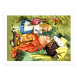 THE DUCHESS INSTRUCTS ALICE IN THE QUEEN'S CROQUET POSTCARD