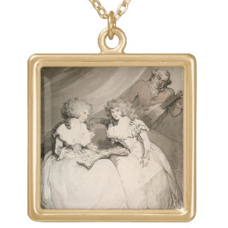 The Duchess of Devonshire and her Sister, the Coun Square Pendant Necklace
