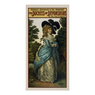 The Duchess of Devonshire Vintage Poster