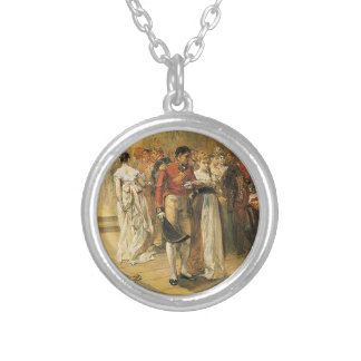 The Duchess of Richmond's Ball in 1815 Round Pendant Necklace