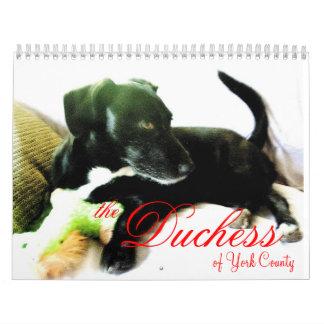 The Duchess of York County Wall Calendar