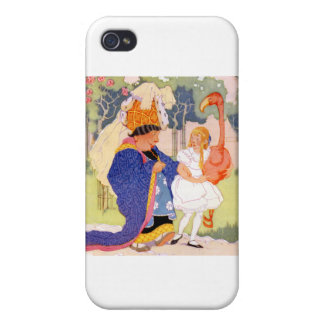 The Duchess Offers Alice Flamingo Croquet Tips iPhone 4/4S Cover