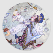 The Duchess & the Pig Baby in Alice in Wonderland Classic Round Sticker