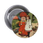 The Duchess walking in Gardens with Alice Pinback Buttons
