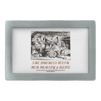 The Duchess With Her Family & Alice (Wonderland) Rectangular Belt Buckle
