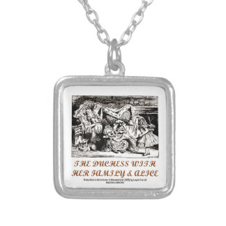 The Duchess With Her Family & Alice (Wonderland) Square Pendant Necklace