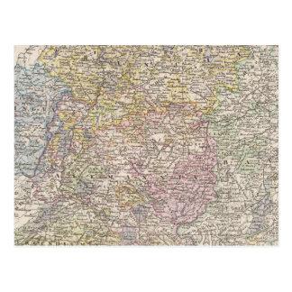 The duchy of Francia, Alemannia, Bavaria Postcard