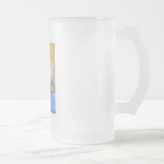THE DUCK 8 16 OZ FROSTED GLASS BEER MUG