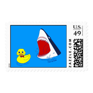 The Duck and The Shark Doodle Art Postage