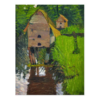 The Duck Houses by August Haake Postcard