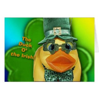 The Duck O' The Irish! Card