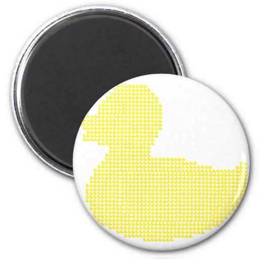 The duck of ducks 2 inch round magnet