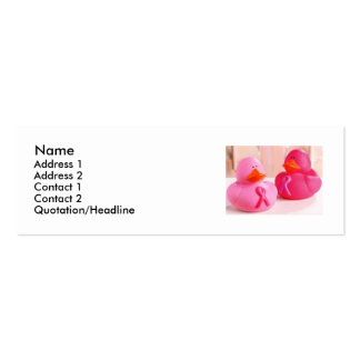 The Ducks Profile Card U Customize Double-Sided Mini Business Cards (Pack Of 20)