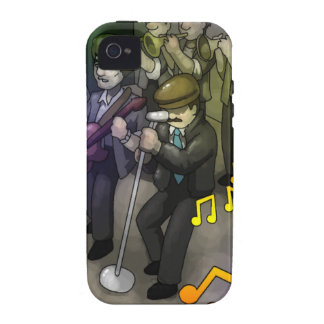 The Dude and His Band by Ram Lama Case-Mate iPhone 4 Cases