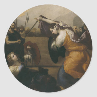 The Duel of Women (The Duel of Isabella de Carazzi Classic Round Sticker