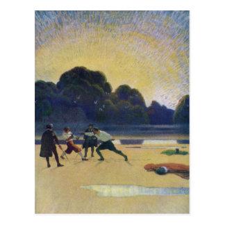 The Duel on the Beach Postcard