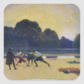 The Duel on the Beach Square Sticker
