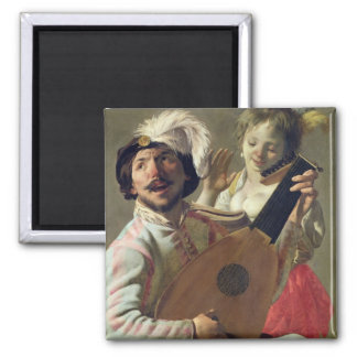 The Duet, 1628 2 Inch Square Magnet
