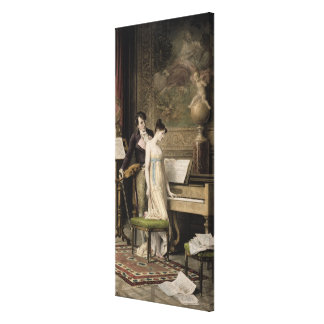 The Duet (mezzotint) Gallery Wrapped Canvas