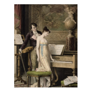 The Duet (mezzotint) Postcard
