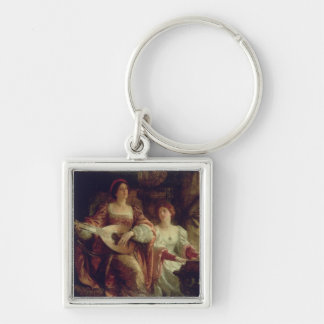 The Duet (oil on canvas) Key Chains