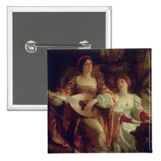 The Duet (oil on canvas) Pinback Button