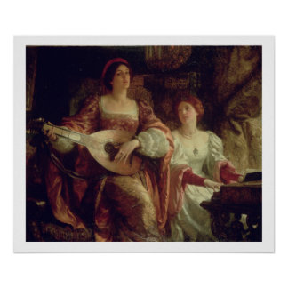 The Duet (oil on canvas) Print