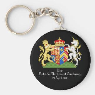 The Duke and Duchess of Cambridge Basic Round Button Keychain