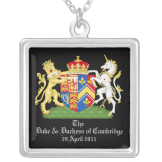 The Duke and Duchess of Cambridge Square Pendant Necklace