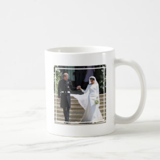 The Duke and Duchess of Sussex Holding Hands Coffee Mug